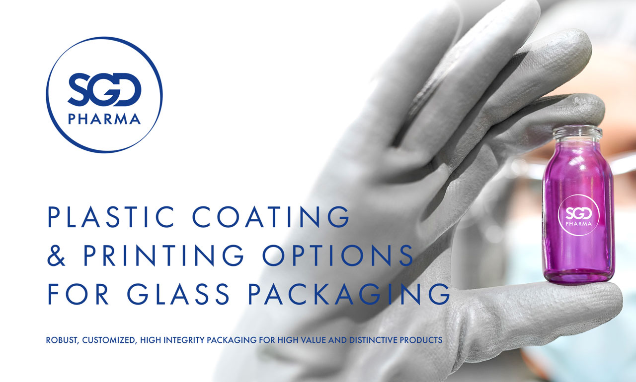 Plastic coating and printing options for glass packaging - SGD Pharma - 502243
