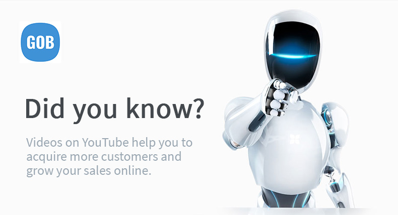 Videos on YouTube help you to acquire more customers and grow your sales online.